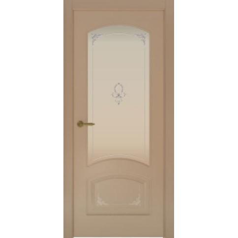 Межкомнатная дверь с эмалью «Flora 4 Белая» (со стеклом)