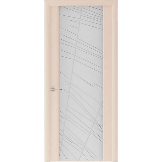 Межкомнатная шпонированная дверь «Capri-2 Белое» (со стеклом)