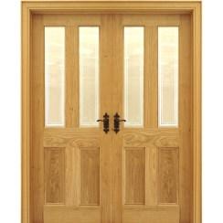 Двустворчатая дубовая дверь