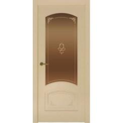 Межкомнатная дверь с эмалью «Flora 4 Бронза» (со стеклом)