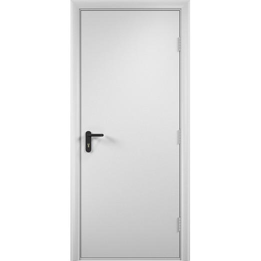Строительная противопожарная дверь «ДПГ» (белая, глухая)