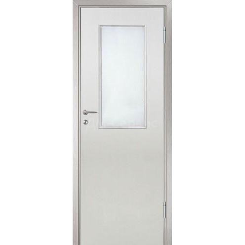 Межкомнатная пластиковая дверь CPL премиум класса (со стеклом)