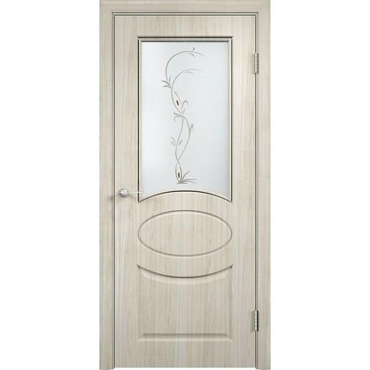 Межкомнатная дверь скин экошпон «Гера ДО ХФ Светлая» (со стеклом)