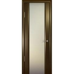 Межкомнатная шпонированная дверь «Шторм-3 Белый» (со стеклом)