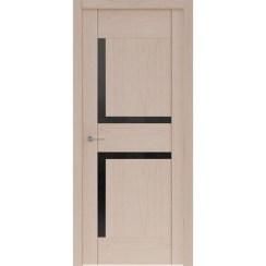 Межкомнатная шпонированная дверь «Rona-5 Черная» (со стеклом)