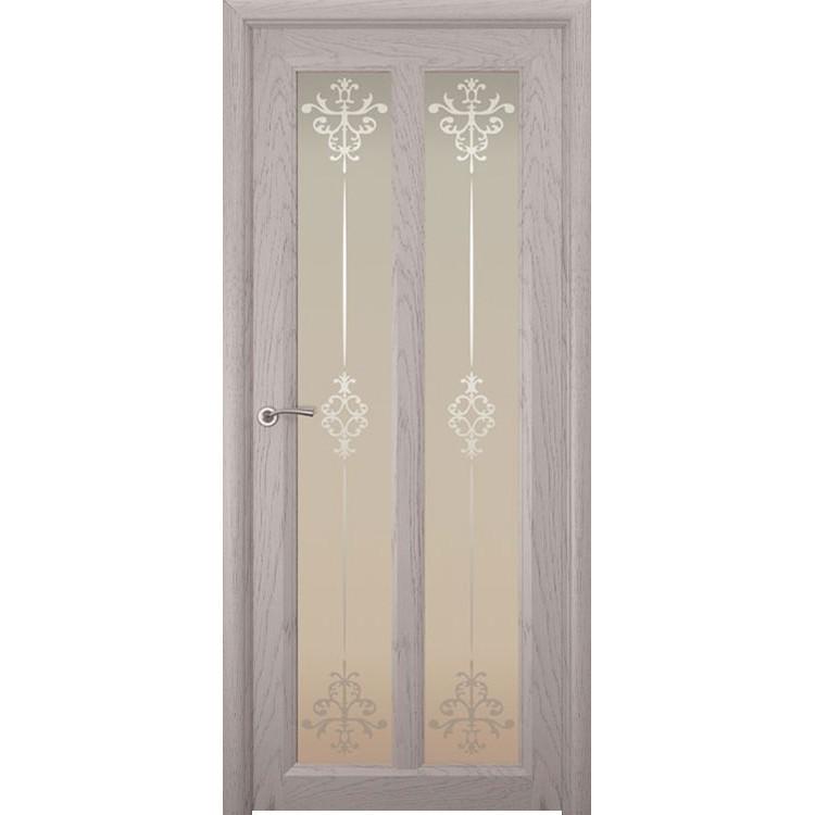 Межкомнатная шпонированная дверь «Optima-5 Ажур» (со стеклом)