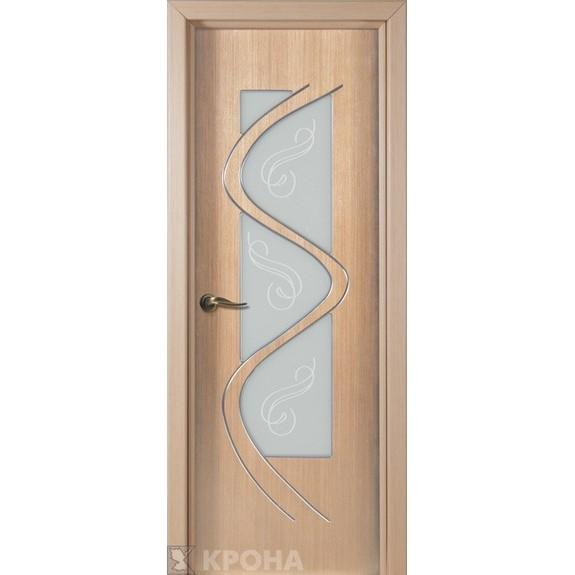 Межкомнатная дверь с натуральным шпоном «Вега ДО» (со стеклом)
