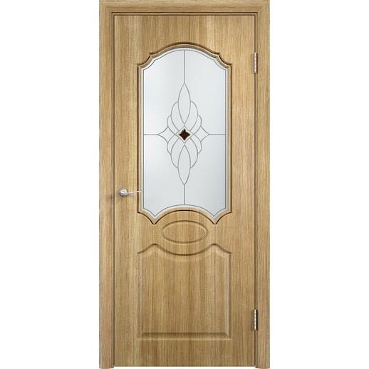 Межкомнатная дверь скин экошпон «Афина ДО Ромб светлый» (со стеклом)
