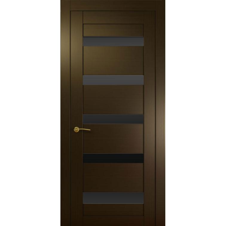 Межкомнатная шпонированная дверь «Ника-1 Черная» (со стеклом)