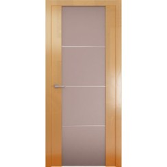 Межкомнатная глянцевая дверь «Avorio-2 Матовое» (со стеклом)