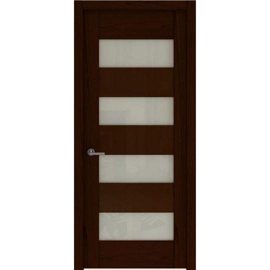 Межкомнатная шпонированная дверь «Rona-1 Белая» (со стеклом)