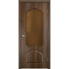Межкомнатная дверь скин экошпон «Ирида ДО Ромб темный» (со стеклом)