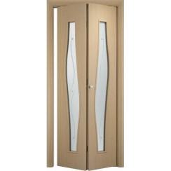 Складная дверь «книжка» C-10 Ф (со стеклом)