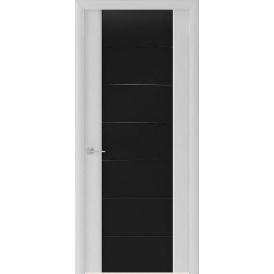 Межкомнатная шпонированная дверь «Capri-3 Черное» (со стеклом)