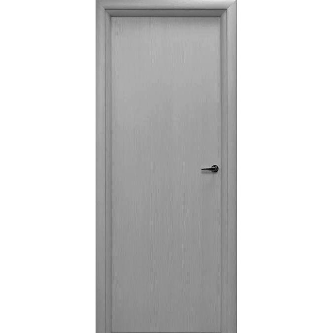 Влагостойкий дверной блок из вспененного ПВХ (глухой, цвет серый)