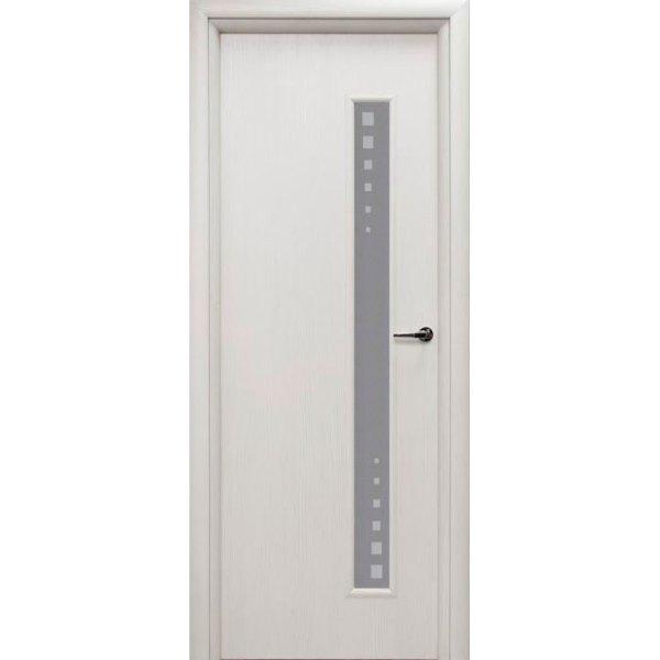 Межкомнатная дверь из вспененного ПВХ (со стеклом, белая)