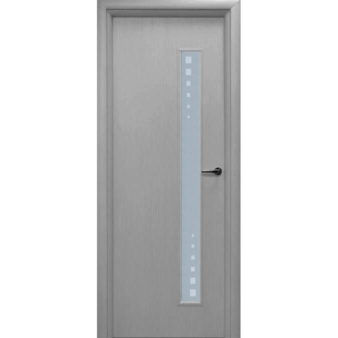 Межкомнатная дверь из вспененного ПВХ (со стеклом, титан)