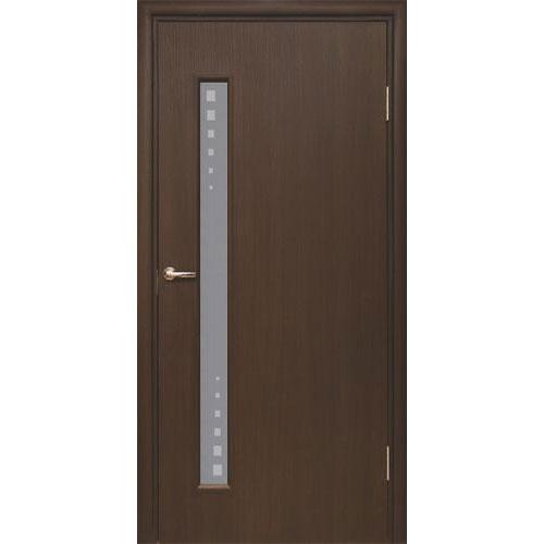 Межкомнатная дверь из вспененного ПВХ (со стеклом, венге)