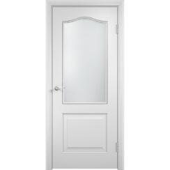 Межкомнатная дверь с пленкой ПВХ «Классика» (стекло сатинато)