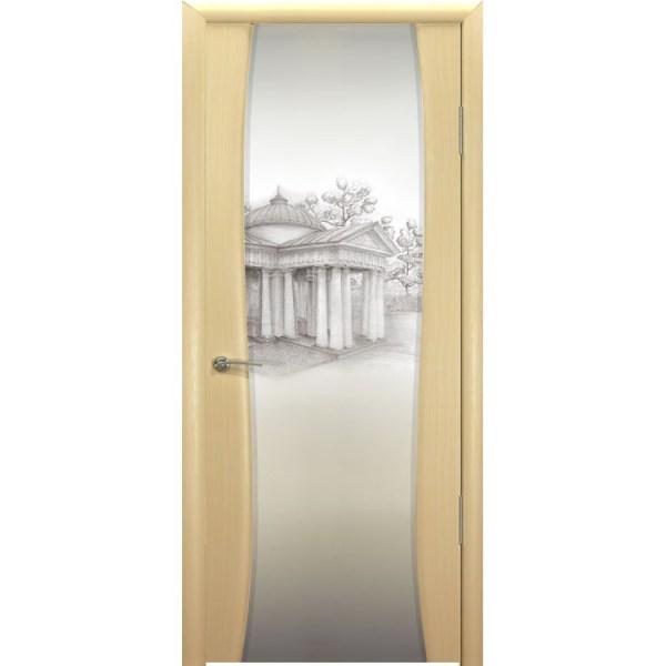 Межкомнатная шпонированная дверь «Буревестник-2 Блюз» (со стеклом)
