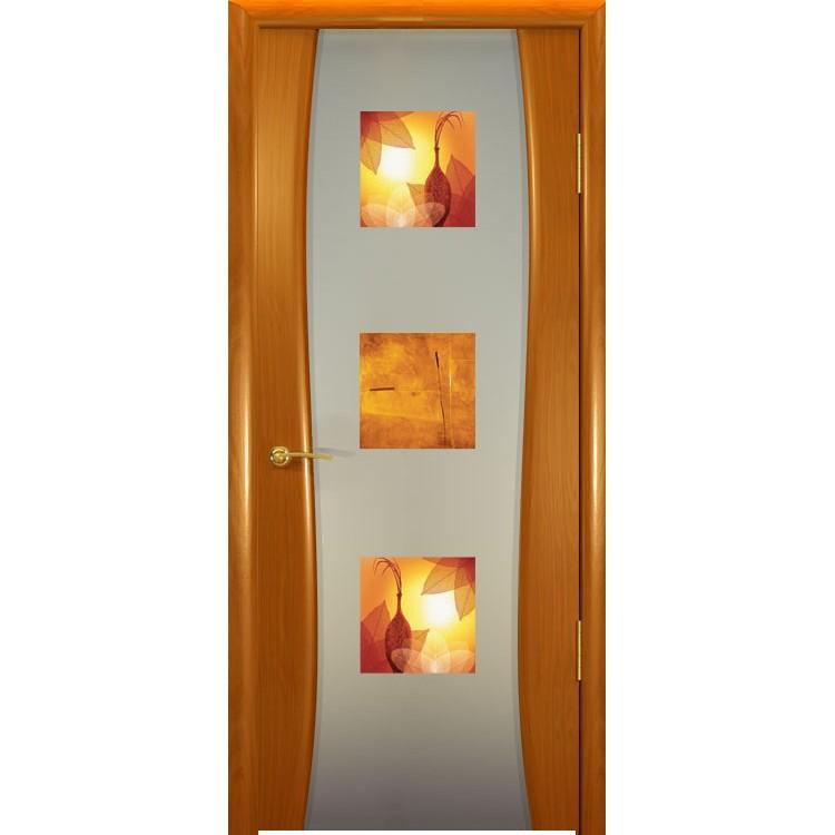 Межкомнатная шпонированная дверь «Буревестник-2 Фиджи» (со стеклом)