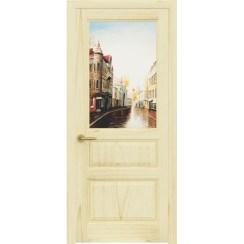 Межкомнатная шпонированная дверь «Марсель Гранж» (со стеклом)