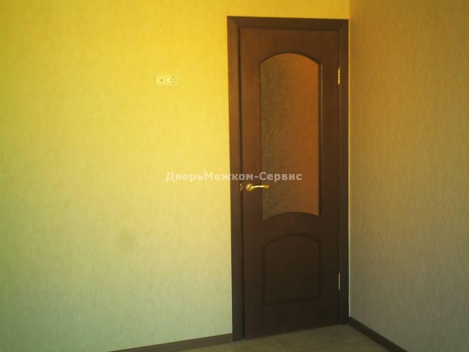 Шпонированная дверь Наполеон со стеклом