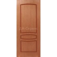 Шпонированная дверь Венеция (глухая, светлый орех)