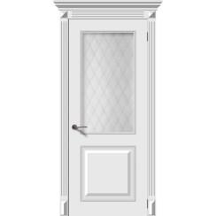 Межкомнатная дверь эмаль «Багет 2» (со стеклом)
