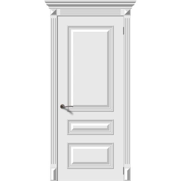 Межкомнатная дверь эмаль «Багет 3» (глухая)