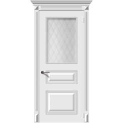 Межкомнатная дверь эмаль «Багет 3М» (со стеклом)