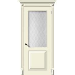 Межкомнатная дверь эмаль «Блюз» (со стеклом)