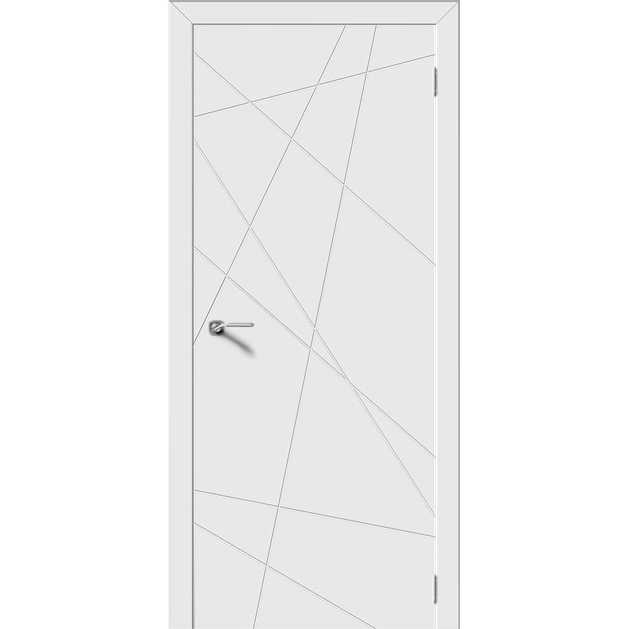 Межкомнатная дверь эмаль граффити «Вектор» (глухая)