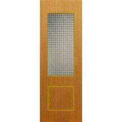 Строительная шпонированная дверь «Марсель» (дуб, со стеклом)