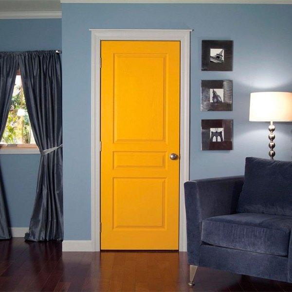 Крашенные двери эконом класса