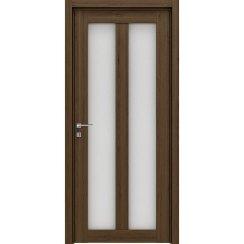Межкомнатная царговая дверь из ДПК «Duo» (со стеклом)