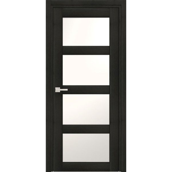 Межкомнатная царговая дверь из ДПК «Quatro» (со стеклом)