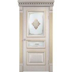 Межкомнатная шпонированная дверь «Версаль» (со стеклом)
