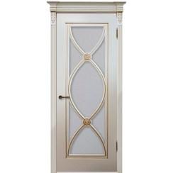 Межкомнатная дверь эмаль классика патина «Фламенко» (со стеклом)
