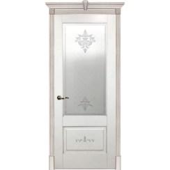 Межкомнатная дверь эмаль классика патина «Флоранс» (со стеклом)