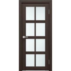 Межкомнатная дверь экошпон К-8 стекло сатинато