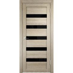 Дверь «Eldorf Мюнхен 3 ДО» с 3D покрытием лакобель чёрное
