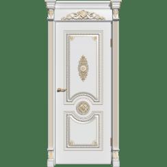 Межкомнатная дверь эмаль классика патина «Олимп» (глухая)