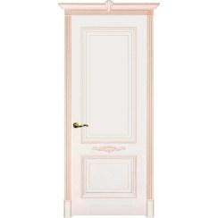 Межкомнатная дверь эмаль классика патина «Паула» (глухая)
