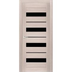 Межкомнатная дверь экошпон Х-5 лакобель чёрное