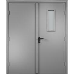 Противопожарная двупольная дверь ДПГ + ДПО финиш-плёнка 60 мин.