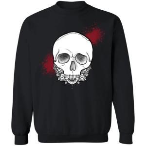 Exploding Skull Crewneck Pullover Sweatshirt