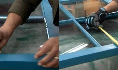 Como cambiar el vidrio roto de una ventana