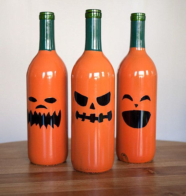 decoracion-halloween-2014-calabazas-botellas