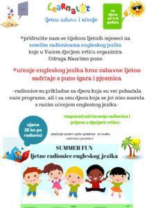 SUMMER FUNljetne radionice engleskog jezika